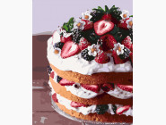 Картины по номерам для кухни Торт с клубникой