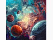 Космос, машины, самолеты Вокруг солнца с красками металлик