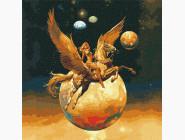 Космос, машины, самолеты Завоевательница космоса с красками металлик
