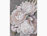 Цветы, натюрморты, букеты Белая пион с золотой краской