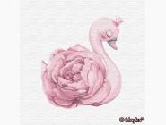 Детские раскраски по цифрам без коробки Принцесса лебедь