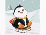 Картины по номерам для детей Зимнее катание
