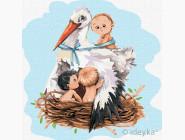Дети, ангелочки, феи: картины без коробки Аист приносит счастье