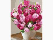 Цветы, натюрморты, букеты Яркие тюльпаны