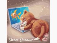 Коты и собаки: картины без коробки Сладкий сон