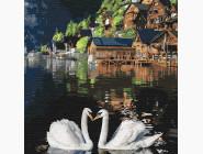 Птицы и бабочки: картины без коробки Волшебные лебеди