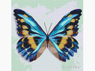 Птицы и бабочки картины по номерам Голубая бабочка