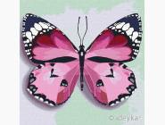 Птицы и бабочки картины по номерам Розовая бабочка