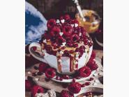 Букеты и натюрморты: картины без коробки Малиновый десерт