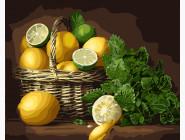 Корзина лимонов и лаймов