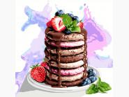 Раскраски для кухни Вкусности на завтрак
