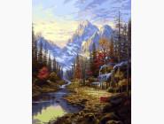 Пейзаж и природа Изба в лесу
