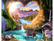 Море, морской пейзаж, корабли Печера любви