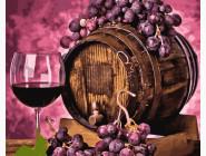 Картины по номерам для кухни Вино в дубовой бочке
