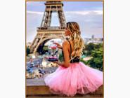 Портреты, люди на картинах по номерам С цветком в Париже