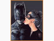 Портреты, люди на картинах по номерам Бэтмен и женщина кошка