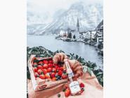 Городской пейзаж Романтический пикник на фоне Альп
