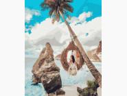 Портреты, люди на картинах по номерам Девушка на райских островах