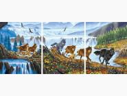 Триптихи по номерам и полиптихи PX5290 Картина по номерам Стая волков