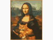 Новинки алмазной вышивки Мона Лиза и кот