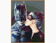 Новинки алмазной вышивки Бэтмен и женщина кошка
