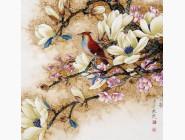 Новинки алмазной вышивки Птица на ветке дерева