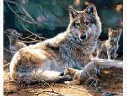 Новинки алмазной вышивки Мама волчица