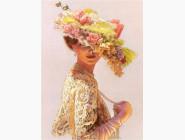 Новинки алмазной вышивки Леди в шляпке с цветами