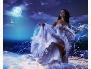 Новинки алмазной вышивки Девушка на берегу океана