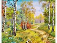 Алмазная вышивка  My Art Осенняя красота леса (TN298, На подрамнике)