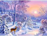 Новинки алмазной вышивки Зимний лес