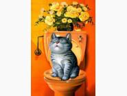 Новинки алмазной вышивки Послушный котик