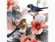 Новинки алмазной вышивки Акварельные птицы