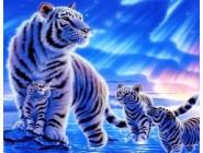 Новинки алмазной вышивки Тигрица с детьми