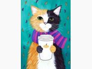 Новинки алмазной вышивки Пушистый котик