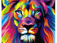 Новинки алмазной вышивки Радужный лев