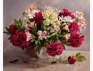 Алмазная вышивка  My Art Букет флористки (TN703, На подрамнике)