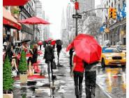 Новинки алмазной вышивки Дождь в Нью-йорке