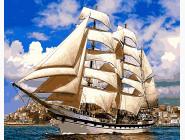 Новинки алмазной вышивки Корабль у берегов Испании