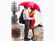 Новинки алмазной вышивки Поцелуй под зонтом