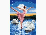 Новинки алмазной вышивки Балерина и лебеди