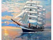 Новинки алмазной вышивки Корабль на волнах