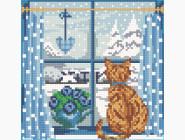 Алмазная вышивка для детей Времена года - зима