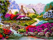 Тропинка среди цветов