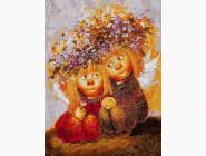 Ангелы и дети Солнечные ангелы в веночках