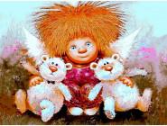 Ангелы и дети Солнечный ангел с игрушками