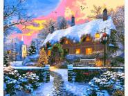 Новый год  дом на Рождество. Доминик Дэвисон