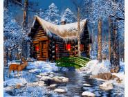 Новый год  Домик в лесу
