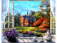 Картины по номерам для кухни Окно в весну. Доминик Дэвисон