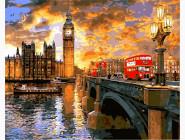 Городской пейзаж Вестминстерский закат. Доминик Дэвисон